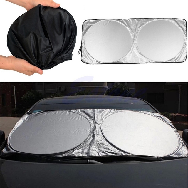 6 unids/set Silver Car Parasol Delantero Back Side Car Window Film Protector Solar Plegable Bloqueando la Luz Del Sol Del Coche Cortina de Estilo