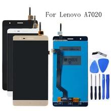 100% 레노버 K5 참고 A7020 K52t38 k52e78 LCD + 터치 스크린 디지타이저 부품 + 무료 배송