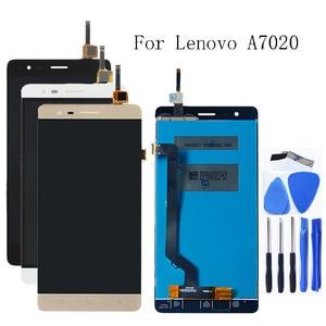 Image 1 - 100% probado para Lenovo K5 nota A7020 K52t38 k52e78 LCD + digitalizador de pantalla táctil componente + envío gratuito