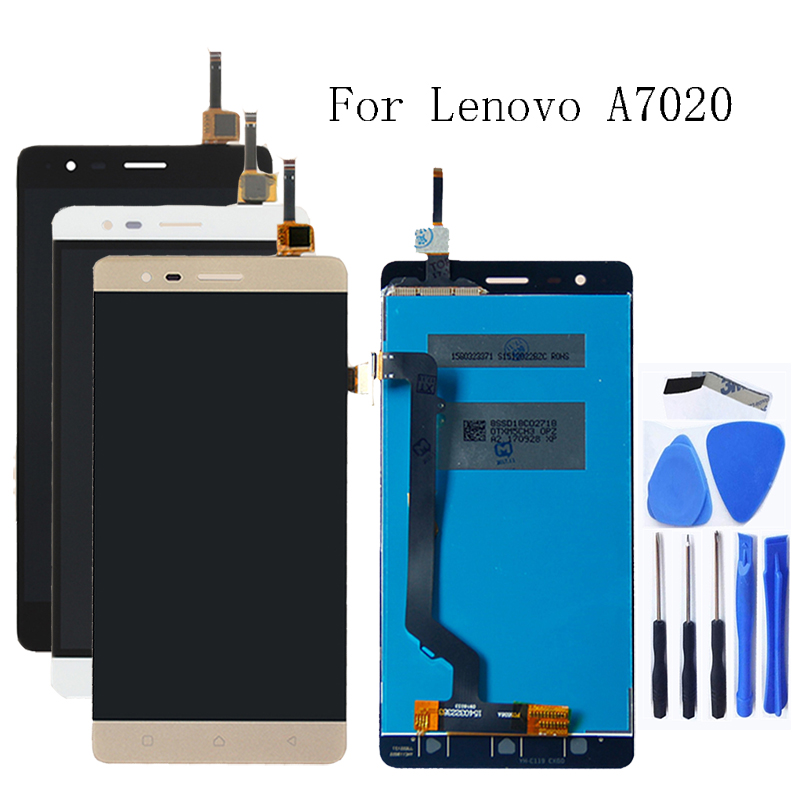 100% tested for Lenovo K5 Note A7020 K52t38 k52e78 LCD + touch screen digitizer component + Free shipping-in Mobile Phone LCD Screens from Cellphones & Telecommunications