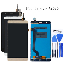 100% tested for Lenovo K5 Note A7020 K52t38 k52e78 LCD + touch screen digitizer component + Free shipping free shipping io data lcd ad191xb2 lcd ad191x2 universal power board eadp 50cf d pressure plate original 100% tested working