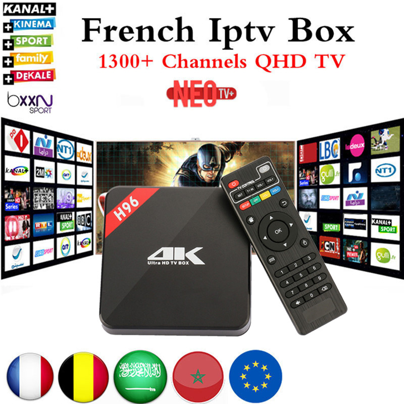 French IPTV Box H96 4K Android TV Box with 1200 NEO IPTV Europe French Arabic Spain
