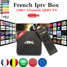 Français IPTV Boîte H96 4 K Android TV Box avec 1200 + NEO IPTV Europe Français Arabe Espagne Tunisie Maroc PayTV Smart Set top boîte