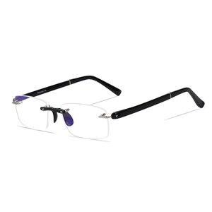 Image 3 - Occhiali da lettura con il Caso + 1.00 + 1.50 + 2.00 + 2.50 + 3.00 + 3.50 + 4.00 TR90 Oculos de Leitura Senza Montatura Uomini Anti riflettente