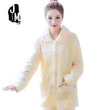 Autumn Winter Warm Pyjamas Women Sleepwear Female Pajama Suit Fleece Sets Home Suits Sleep Lounge Pajamas For Adult