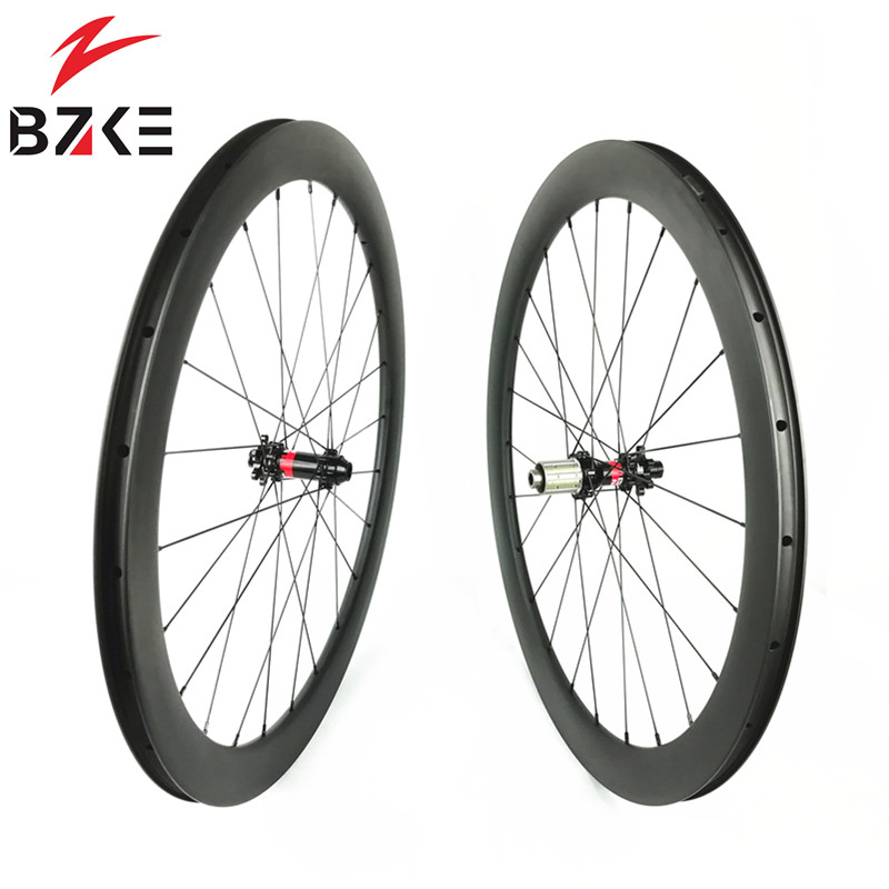 BZKE 700C Super light carbon road bicycle wheels 35 38 45 50mm depth tubeless carbon wheelset