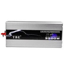 3500 Вт TBE Чистая синусоида DC 12 В/24 В в AC 220 В/230 В инвертор питания USB зарядное устройство для солнечной/ветровой/автомобильной/газовой генерации преобразователь