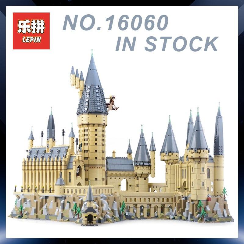 Lepin 16060 Harry Potter Magique Poudlard Château Compatible Blocs de Construction Briques Legoing 71043 Jouets Éducatifs De Noël Cadeaux