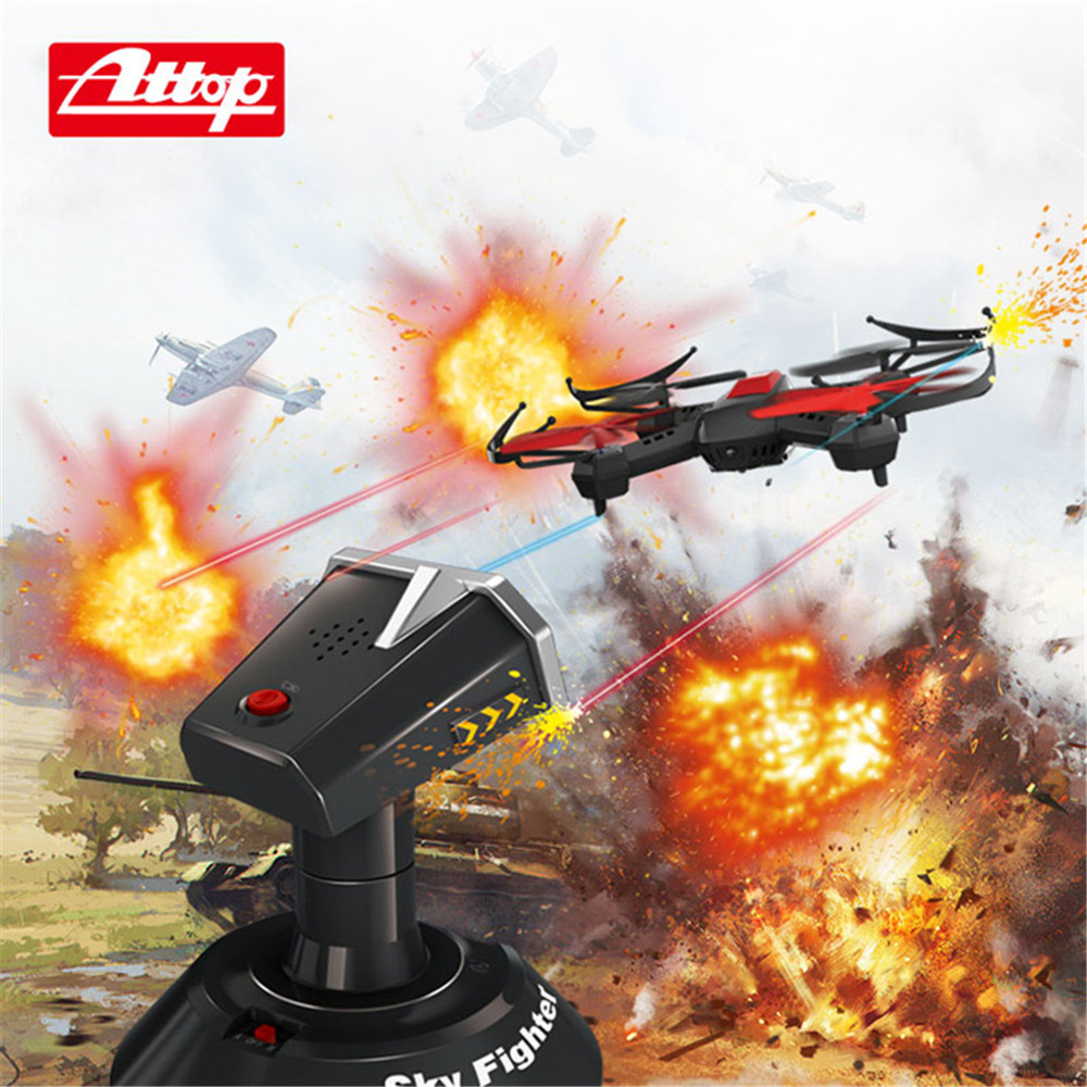 3D Stunt RC Drone Dron 4CH 6 Axis Sky Fighting RC Drones  LED Light Quadcopter with Turret Left / Right Side Flying Helicopter mini drone rc helicopter quadrocopter headless model drons remote control toys for kids dron copter vs jjrc h36 rc drone hobbies