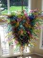 Tiffany Bunte Glas Kronleuchter für Wohnzimmer Kunst Deco