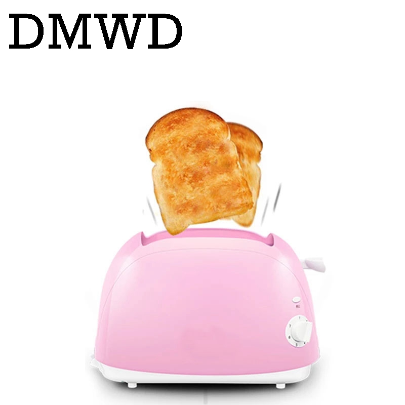 DMWD Household Baking Bread making Machine Automatic electrical Toaster Breakfast Machine maker Toast oven 2 Slices pieces EU US цена