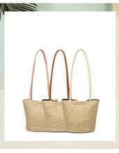 купить QIUYIN Hand Bag For Women Girl Hand Woven Large Rattan Straw Bag Flower Basket Storage Tote Female Bags Travel Handbag Shopping по цене 566.64 рублей