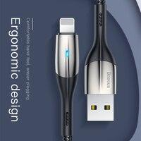 Baseus zn-cabo usb de design de iluminação  cabo de carregamento para iphone xs max 1 m 2.4a para iphone x cabo usb carregador 8 7 6 plus