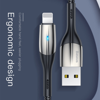 Usb кабель Baseus Zn-alloy Lighting design для iPhone xs max 1 m 2.4A зарядный кабель для iPhone X 8 7 6 plus зарядный usb-кабель