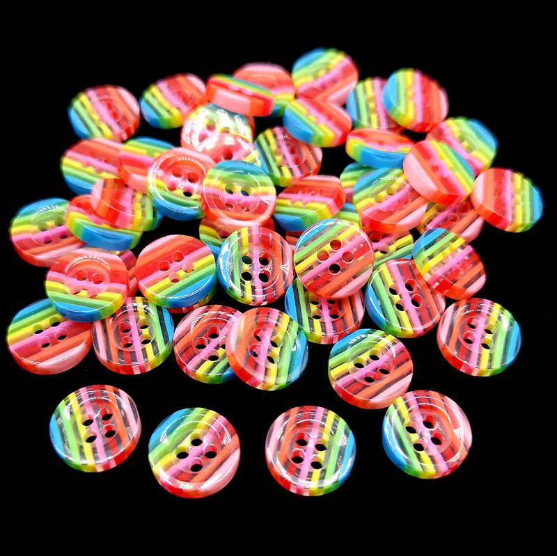 20 sztuk piękne żywiczne okrągłe guziki szycia DIY dodatki odzieżowe DIYmaterials Scrapbooking naklejki dla dzieci akcesoria rzemieślnicze