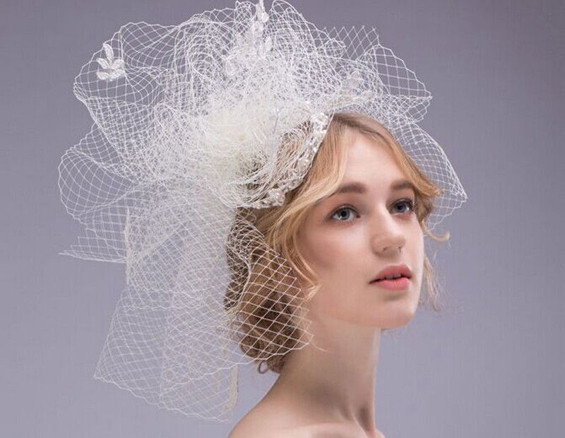 2016-New-Bridal-Hats-Wedding-Headdress-Jewelry-Vintage-Handmade-Linen-Gauze-Beaded-Birdcage-Veil-Elegant-Tulle (2)