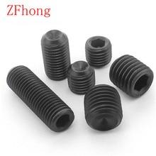 100PCS DIN916 grade 12.9 M2 M2.5 M3 M4 M5 M6 allen head hex socket set screw grub screw(China (Mainland))