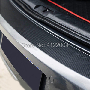 Auto Rear Bumper Trunk Tail Lip Carbon Fiber Protection Stickers Decal Car Styling For Volkswagen VW Golf 6 MK6 MK7 7 GTI