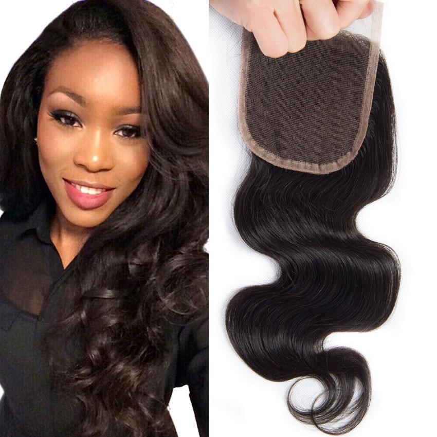 1pc Brazilian Virgin Hair Body Wave Lace Closure Free