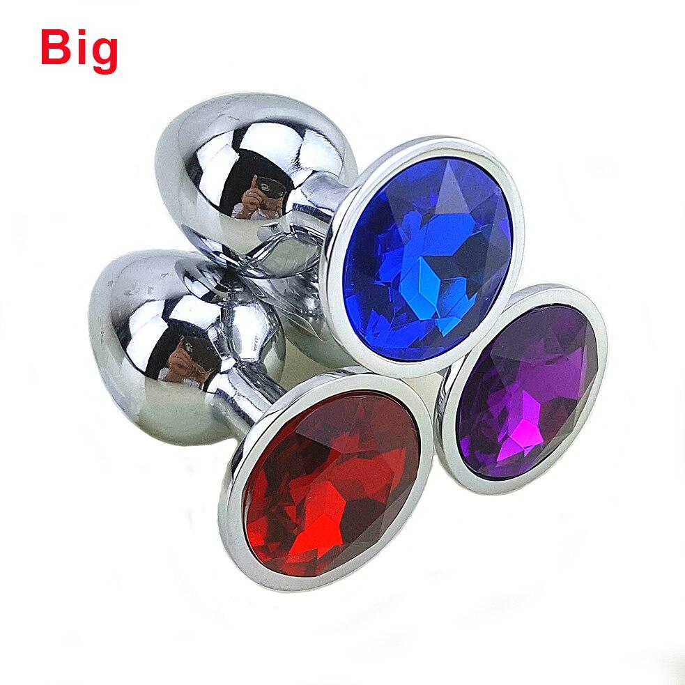 80 * 34 Medium <font><b>Metal</b></font> <font><b>Anal</b></font> <font><b>Sex</b></font> <font><b>Toys</b></font> For Woman & Man, Stainless Steel Enticing Jewelry Butt <font><b>Plug</b></font>. <font><b>Large</b></font> Ass Beads Products AS024M