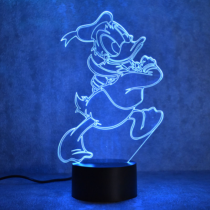 3D LED Night Light Novelty Visual USB Lampara Table Lamp Creative Baby Sleeping Light Fixture Cute Animal Duck Shape Lamp Decor