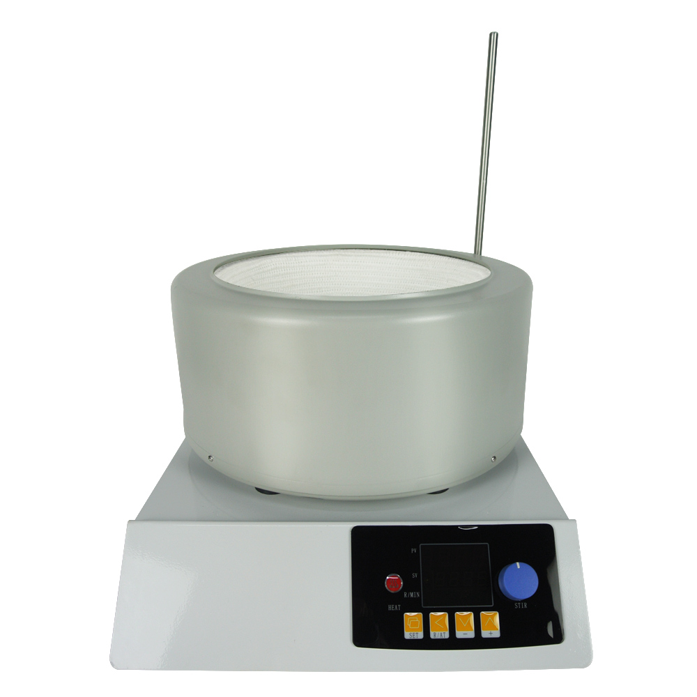 Laboratory Heating Mantle Equipment 5L Electric Heating Belt Magnetic Stirring Intelligent Digital Display 220V цена