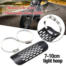 ZXMT Motorcycle Black Exhaust Muffler Pipe Heat Shield Cover Guard For Harley Softail Dyna Cruiser C20