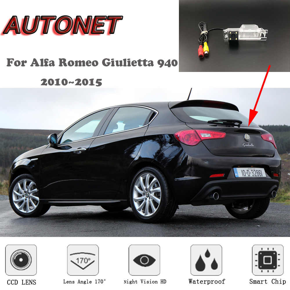 autonet hd night vision backup rear view camera for alfa romeo giulietta 940 2010 2015 [ 1000 x 1000 Pixel ]