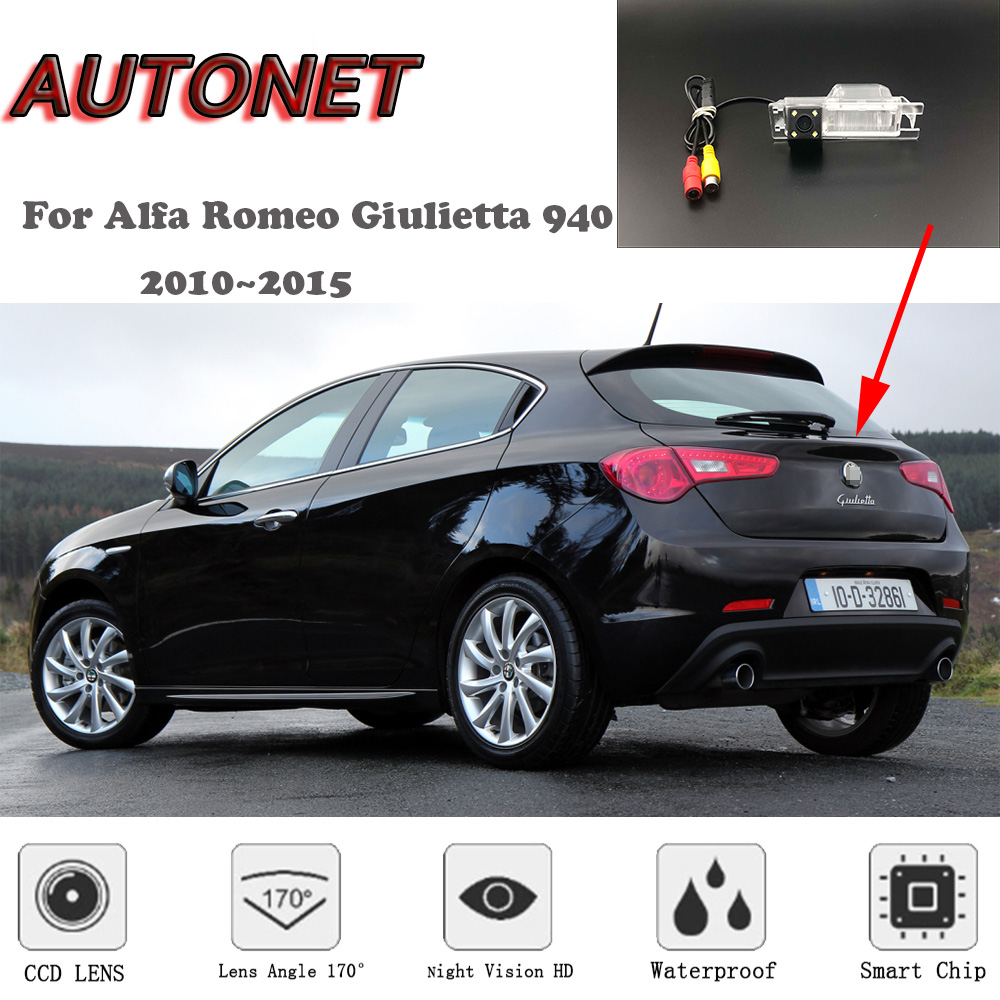 AUTONET HD Night Vision Backup Rear View Camera For Alfa Romeo Giulietta 940 2010~2015  /RCA Standard /Parking Camera