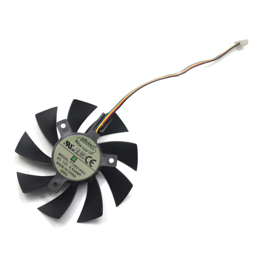New 85mm T129215SU 4Pin Two Ball-Bearing Replace For MSI Gigabyte GTX 1060 RX 480 460 570 580 R9 290X Video Card 0.5A Cooler Fan