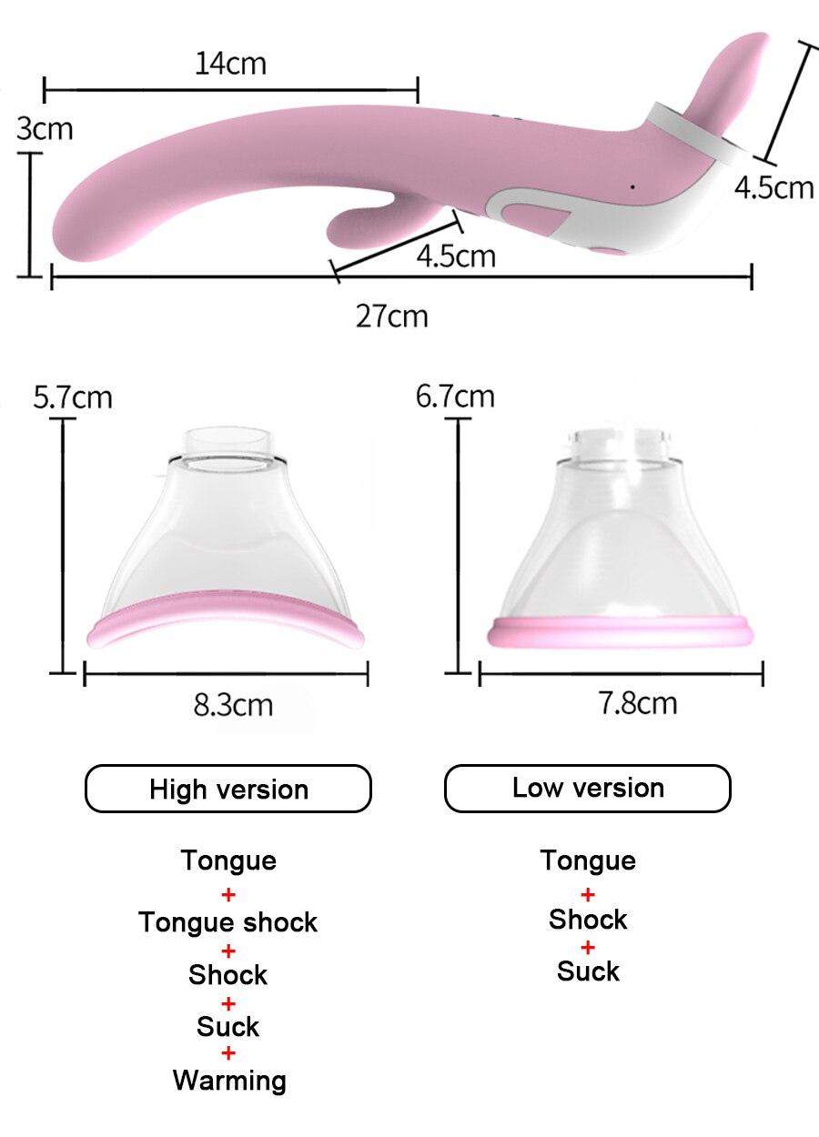 Sucking Vibrator Clitoris Stimulation Sucker G Spot Multispeed Licking Clit Nipple Massager Flirting Erotic Sex Toys for Women 16