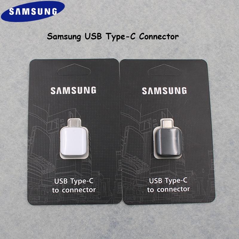 Original Samsung Usb 3,1 Tipo C Otg Conector Pen Drive/teclado/ratón/u Adaptador De Datos De Disco Para Galaxy S8 S9 Plus Nota 8 A8 2018