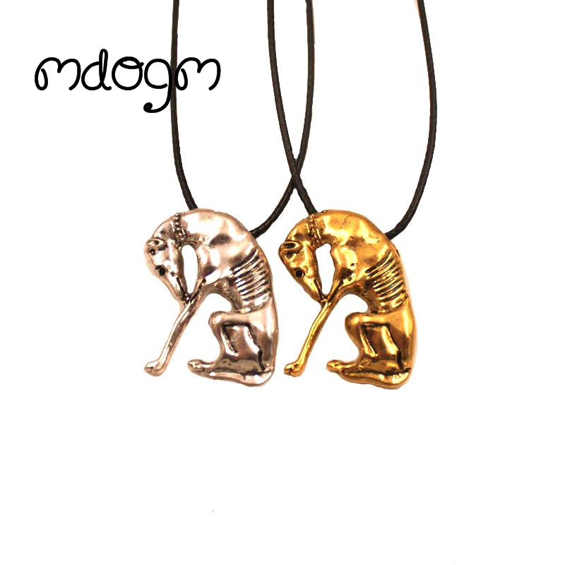 Mdogm 2018 Greyhound Necklace Dog Animal Pendant Antique Gold Silver Plated Fashion Jewelry For Women Male Female Girls N141