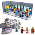 iron Man Underground laboratory basis Removable nail Mech figures Weapons Building Blocks compatible legoinglys Super hero
