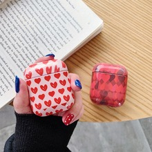 Cute love heart Wireless bluetooth earphone case For AirPods Protective Cover Accessories for Apple Airpods Charging Earbuds Bag