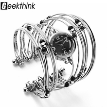 GEEKTHINK Bohemian Style Luxury Brand Quartz Watch Women Bracelet Ladies Casual Dress Beads Decor Wristwatch Clock Female Girls