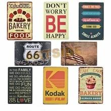 Художественный постер для пекарни антикварная пленка Kodak металлическая Оловянная вывеска для бара, паба, дома, декоративная ретро-табличка