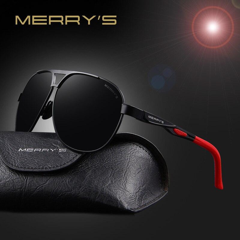 MERRY'S 2017 Nuevo Diseñador de la Marca de Calidad Cool Polarized Men Sunglasses UV400 Proteger Gafas de Sol Para Hombres Con Caja S'8611