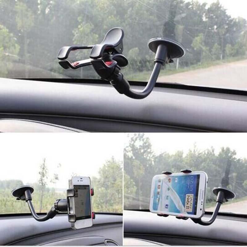 Universal Car Flexible Cell Phone Holder 360 grados Girar ventosa - Accesorios y repuestos para celulares - foto 6