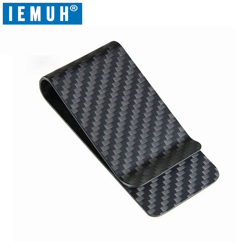 Purse Wallet Cash-Holder Money-Clips Pocket-Credit-Card IEMUH Carbon-Fiber