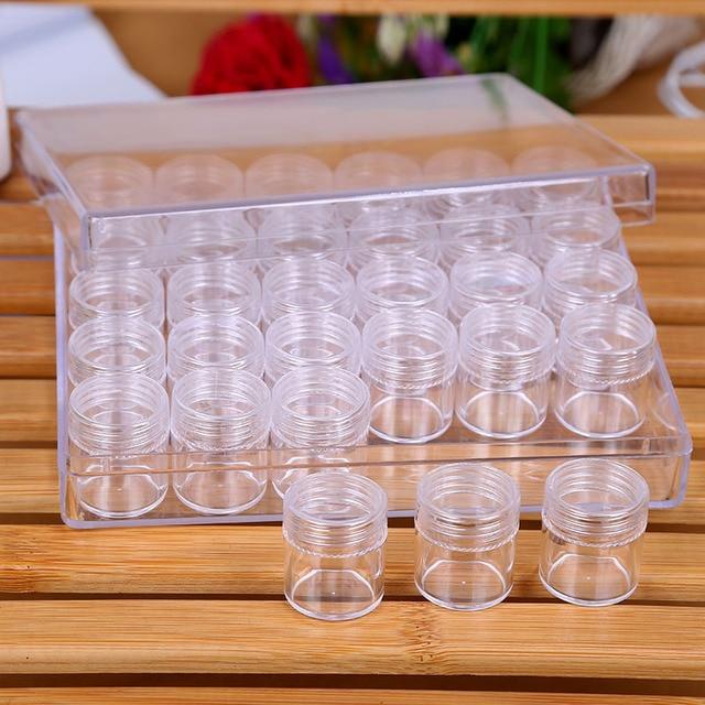 30 siatki Diament Haft Schowek Medycyny Diament Malarstwo Akcesoria Narzędzia biżuteria Box Case Organizator storage box prezent