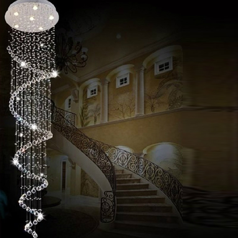 Crystal Chandelier Raindrop Spiral Crystal Chandeliers Modern Led - Chandelier raindrop crystals