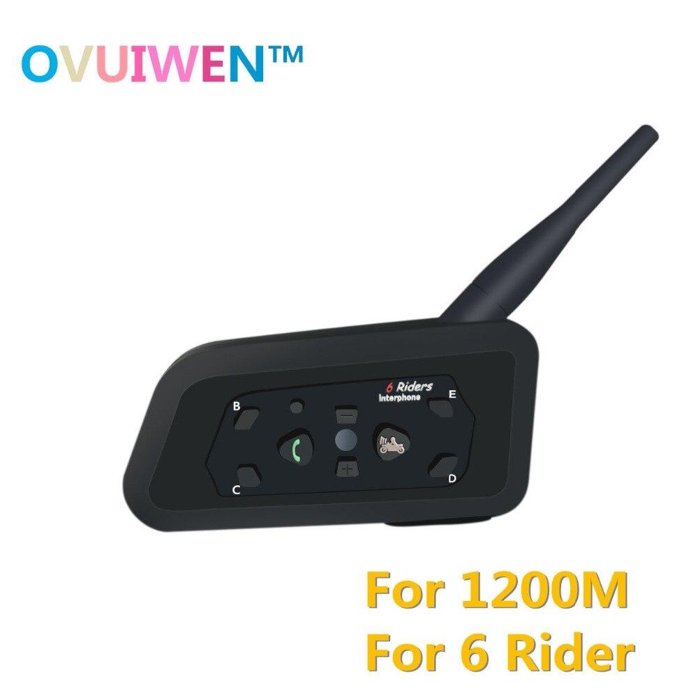 2018 Interphone Bluetooth moto rcycle Communicateur Casque Casque Interphone pour 6 Coureurs moto rcycle Interphone moto rcycle moto