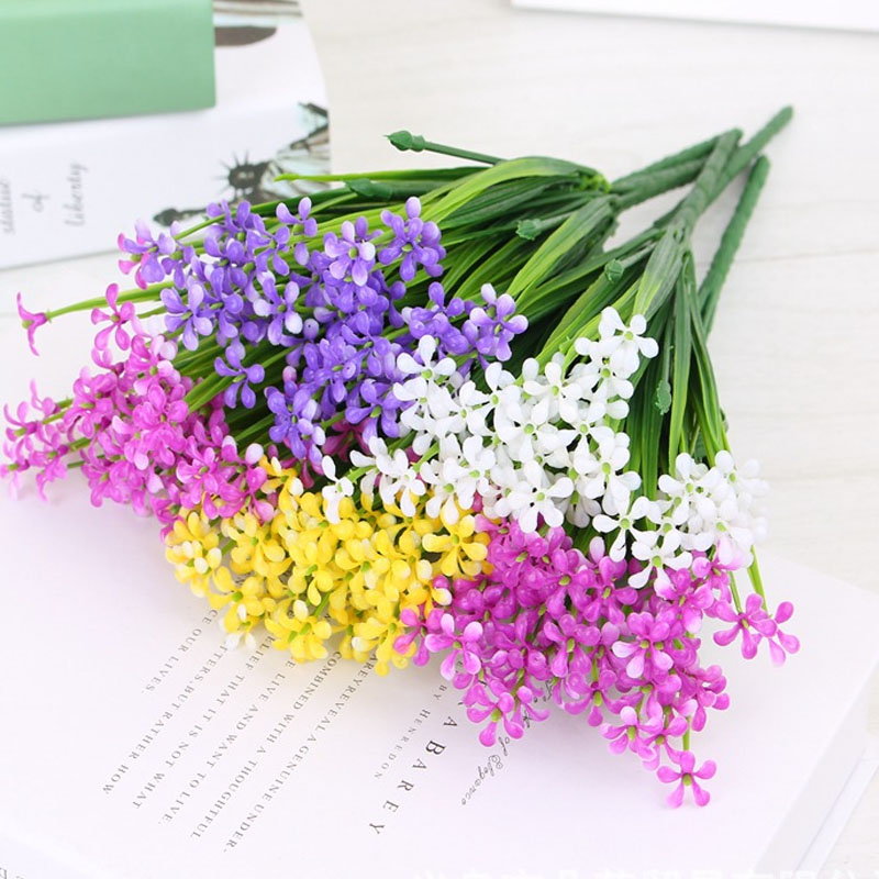 Milan Lilac Flower Fake Plants For Wedding Decoration Artificial Wildflower Home Decoration Wreath Corsage Flores