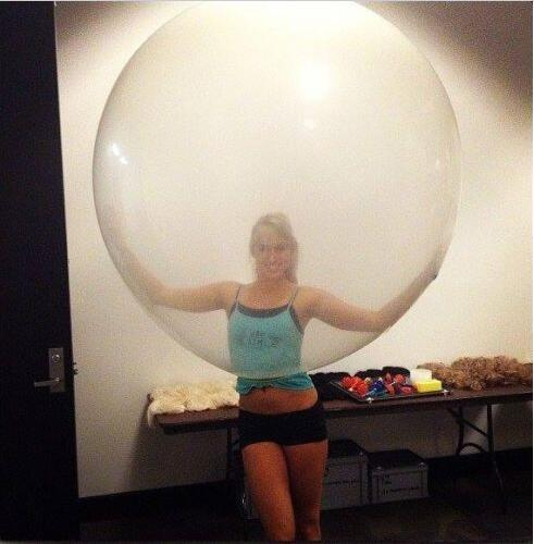 Jumbo Giant Luft Balloon, 3FT 90cm Round Clear Balloon, Huge Transparent Party B