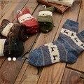 free shipping Fawn Jacquard Socks wild rabbit hair thick warm socks female socks Japanese Sen female line 2015 winter new Sock S