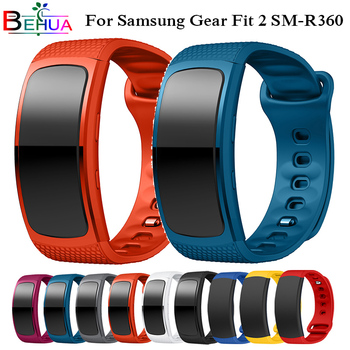 L/S Watch Band for Samsung Galaxy Gear Fit2 bracelet sport Silicone Wrist Band Strap For Samsung Gear Fit 2 SM-R360 Bands Belt laforuta silicone band for galaxy fit e strap rubber sport wrist band for samsung r375 loop women men fitness bracelet 2019