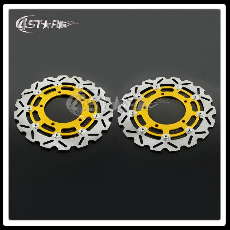 Gold Motorcycle Front Floating Brake Disc Rotor For GSR400 GSR600 GSF650 GSR750 GSF1200 GSF1250 GSX1250 GSX1300  DL V-strom