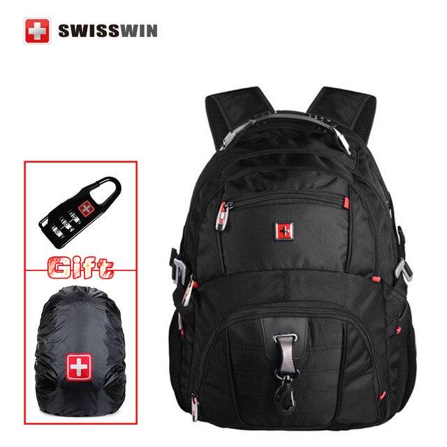 "wenger mochila style swissgear  SW 8112 I Waterproof Backpack Large Capacity 16,5""-17 inch Laptop Bag male Bagpack Rucksack"