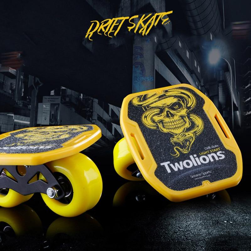 Twolions ABS Drift Board For Freeline Roller Road Drift Skates Antislip Skateboard Deck Freeline Skates Wakeboard